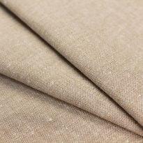 Льняная ткань для постельного белья серо-бежевая, ширина 220 см