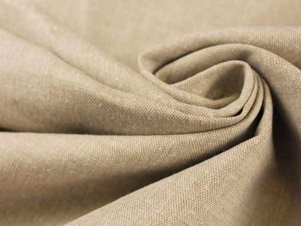 Фото 6 - Льняная ткань для постельного белья серо-бежевая, ширина 220 см.