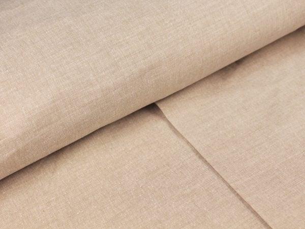Фото 8 - Льняная ткань для постельного белья серо-бежевая, ширина 220 см.