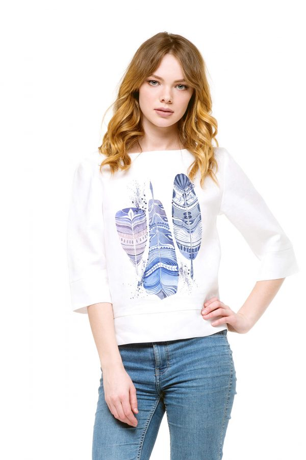 Фото 10 - Блуза льняная прямого силуэта.