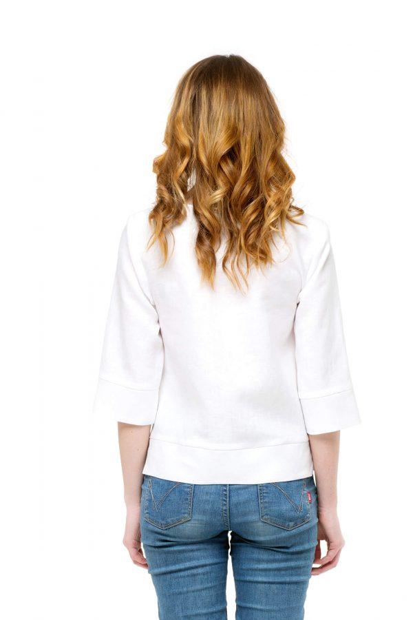 Фото 6 - Блуза льняная прямого силуэта.