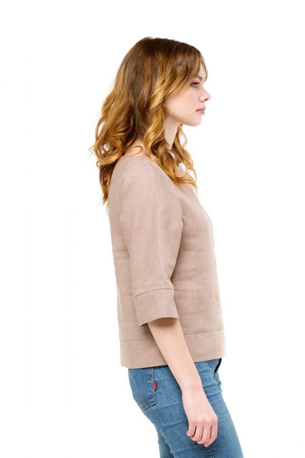 Фото 14 - Блуза льняная прямого силуэта.