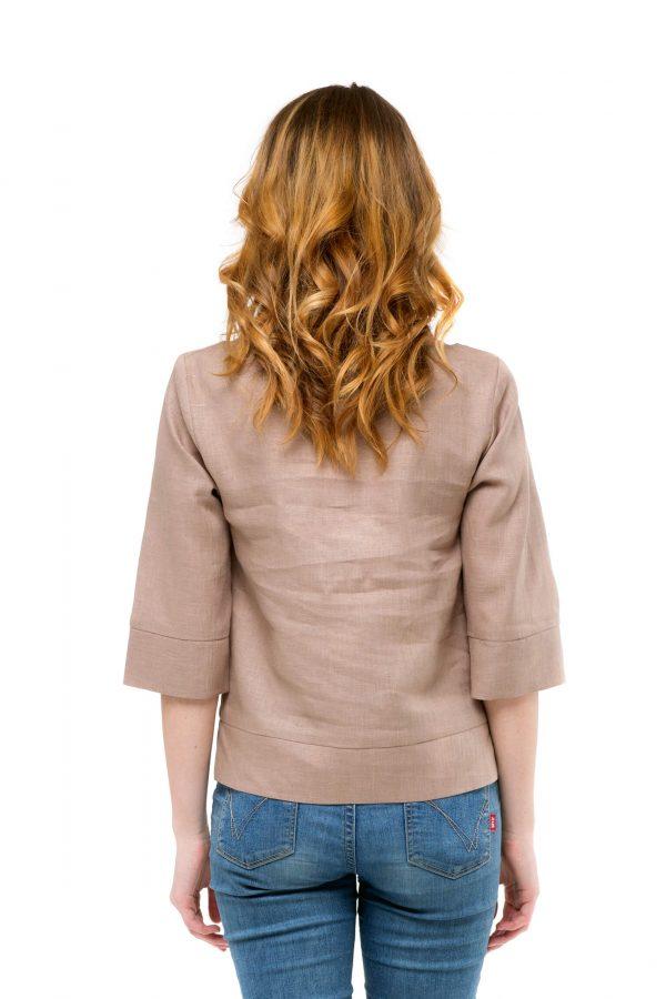 Фото 16 - Блуза льняная прямого силуэта.