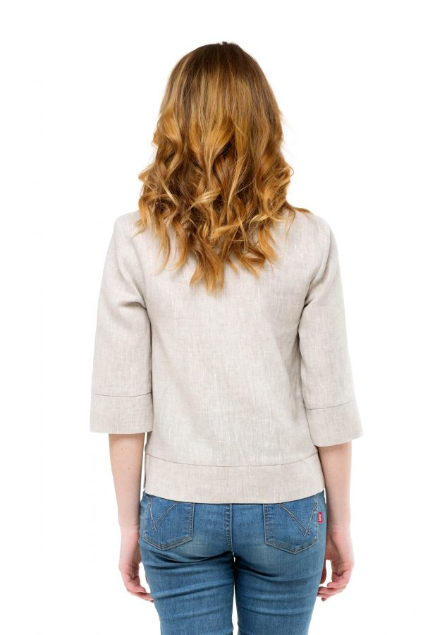 Фото 5 - Блуза льняная прямого силуэта.