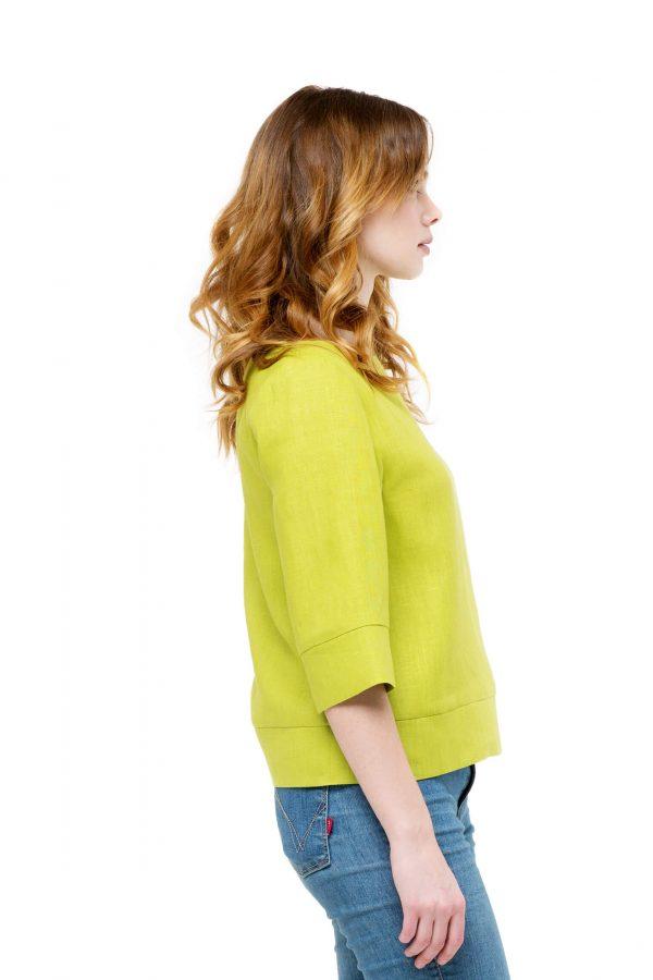 Блуза льняная прямого силуэта