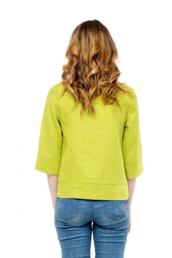 Фото 17 - Блуза льняная прямого силуэта.