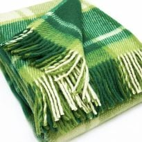 Фото 15 - Плед 100% шерсть  цвет светло-зеленый.