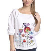 Фото 3 - Блуза льняная с длинным рукавом.