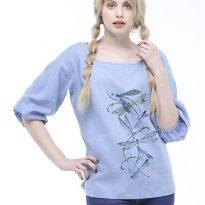 Фото 4 - Блуза льняная с длинным рукавом.