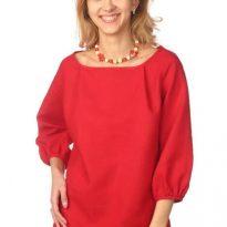 Фото 11 - Блуза льняная с длинным рукавом.