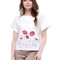 Фото 3 - Блуза льняная с отворотами.