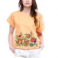 Фото 5 - Блуза льняная с отворотами.
