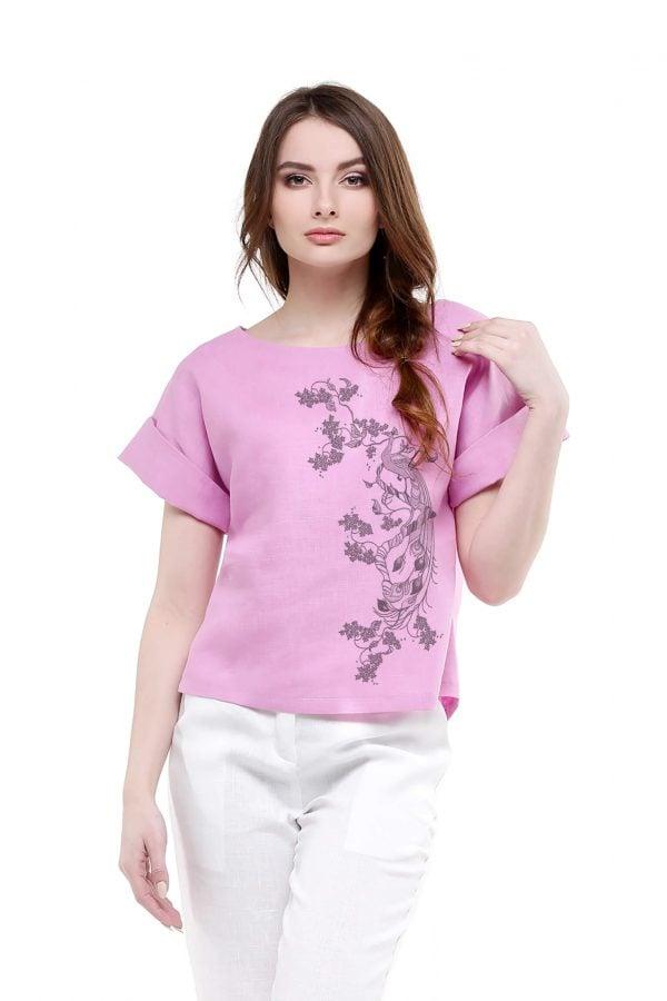 Фото 17 - Блуза льняная с отворотами.