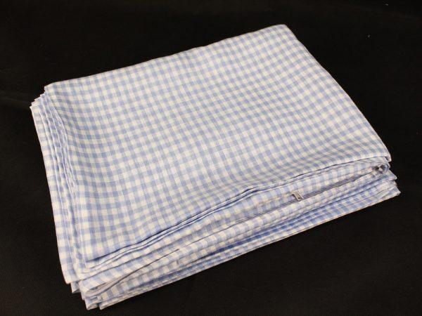 Фото 4 - Комплект постельного белья 1,5 спальный, голубая  клеточка лен 100%.