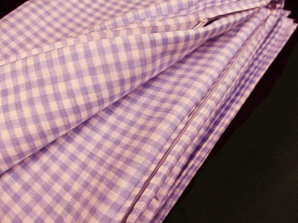 Фото 6 - Комплект постельного белья 1,5 спальный, сиреневая клеточка лен 100%.
