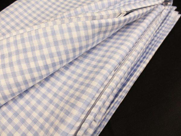 Фото 6 - Комплект постельного белья 1,5 спальный, голубая  клеточка лен 100%.