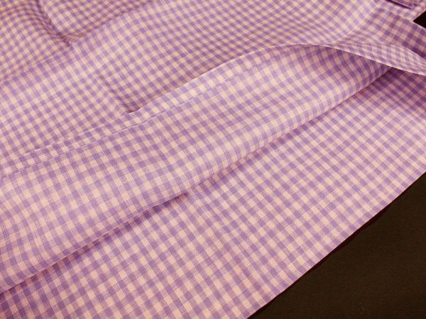 Фото 5 - Комплект постельного белья 1,5 спальный, сиреневая клеточка лен 100%.