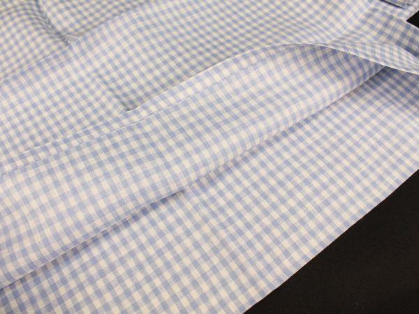 Фото 7 - Комплект постельного белья 1,5 спальный, голубая  клеточка лен 100%.