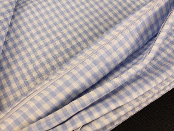 Фото 8 - Комплект постельного белья 1,5 спальный, голубая  клеточка лен 100%.