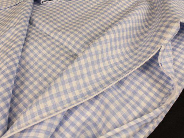 Фото 9 - Комплект постельного белья 1,5 спальный, голубая  клеточка лен 100%.
