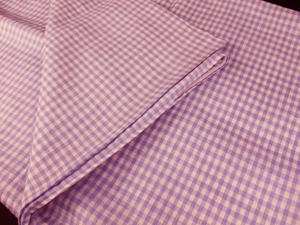 Фото 4 - Комплект постельного белья 1,5 спальный, сиреневая клеточка лен 100%.
