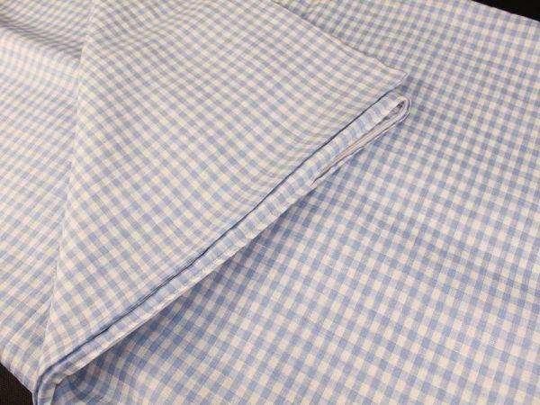 Фото 5 - Комплект постельного белья 1,5 спальный, голубая  клеточка лен 100%.