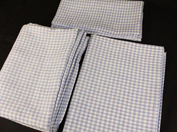 Фото 3 - Комплект постельного белья 1,5 спальный, голубая  клеточка лен 100%.