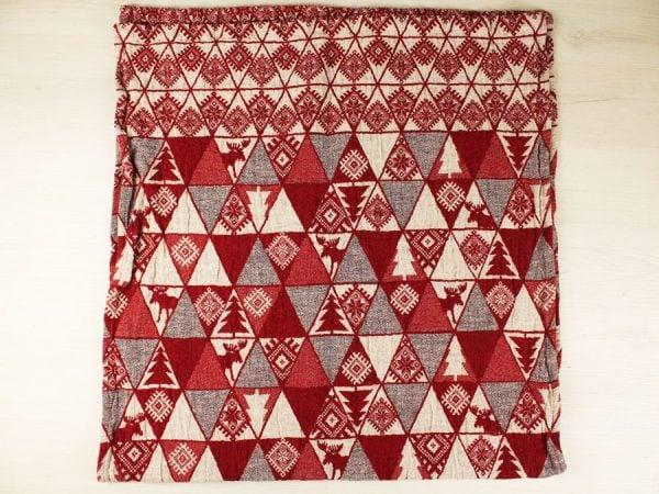 """Фото 6 - Полотенце льняное жаккардовое  """"Лоси"""" цвет красный."""