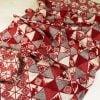 """Фото 9 - Полотенце льняное жаккардовое  """"Лоси"""" цвет красный."""