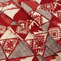 """Фото 14 - Полотенце льняное жаккардовое  """"Лоси"""" цвет красный."""
