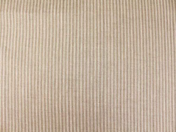 Фото 5 - Льняная ткань в узкую полоску лен 100%.