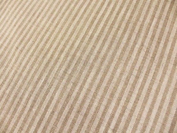 Фото 6 - Льняная ткань в узкую полоску лен 100%.