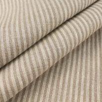 Льняная ткань в узкую полоску лен 100%