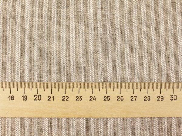 Фото 7 - Льняная ткань в узкую полоску лен 100%.