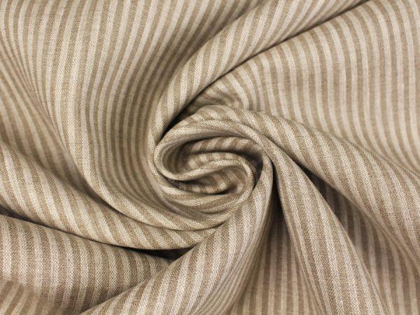 Фото 8 - Льняная ткань в узкую полоску лен 100%.