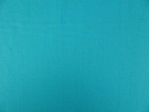 Фото 7 - Ткань умягченная бирюзовая светлая, лен 100%.