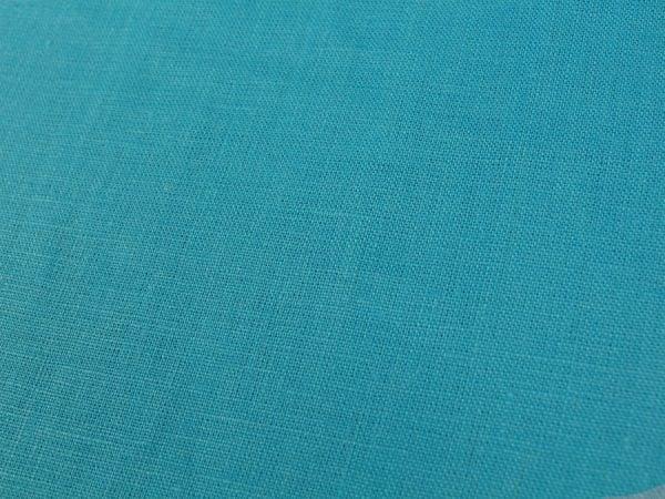 Фото 4 - Ткань умягченная бирюзовая светлая, лен 100%.