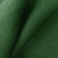 Ткань льняная темно-зеленая, умягченная лен 100%