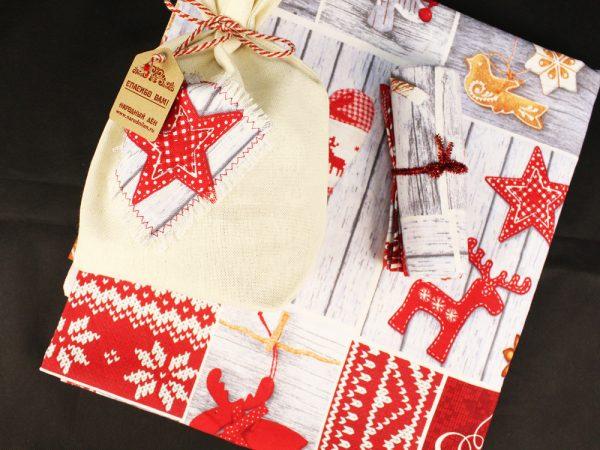 Фото 6 - Скатерть новогодняя в подарочном мешочке.