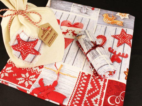 Фото 5 - Скатерть новогодняя в подарочном мешочке.