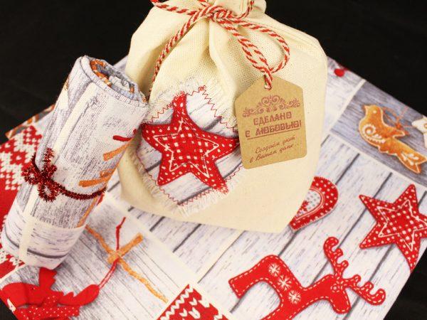 Фото 3 - Скатерть новогодняя в подарочном мешочке.
