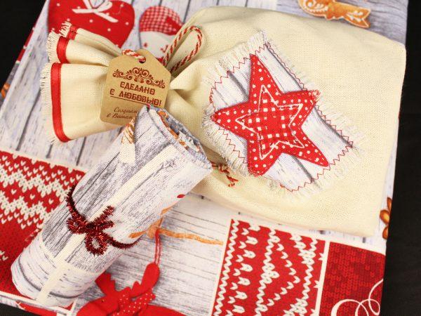 Фото 8 - Скатерть новогодняя в подарочном мешочке.