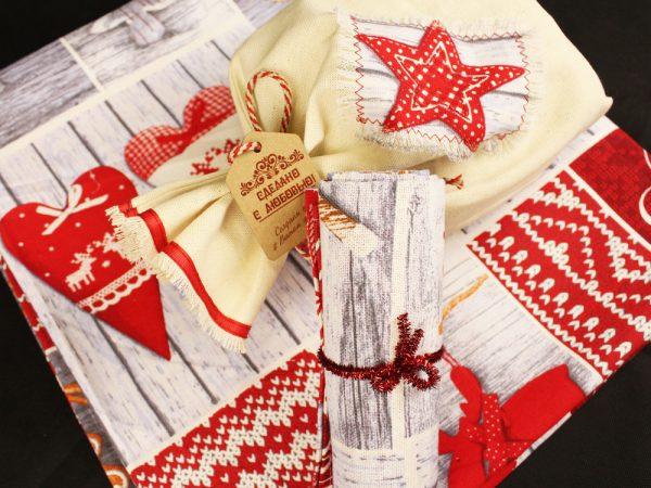 Фото 7 - Скатерть новогодняя в подарочном мешочке.