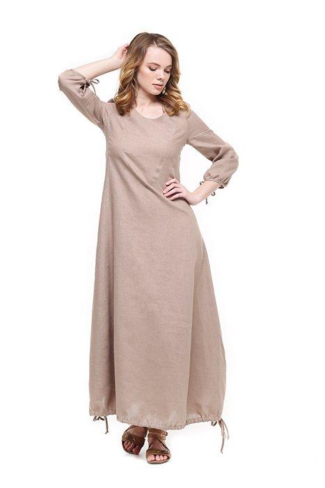 Фото 3 - Платье с кулиской по линии низа.