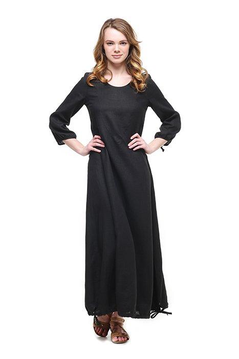 Фото 23 - Платье с кулиской по линии низа.