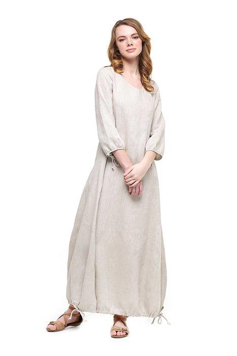 Фото 19 - Платье с кулиской по линии низа.