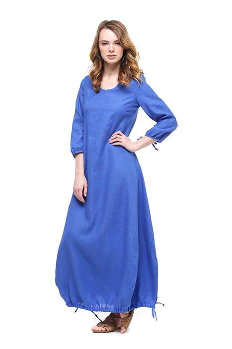Фото 15 - Платье с кулиской по линии низа.