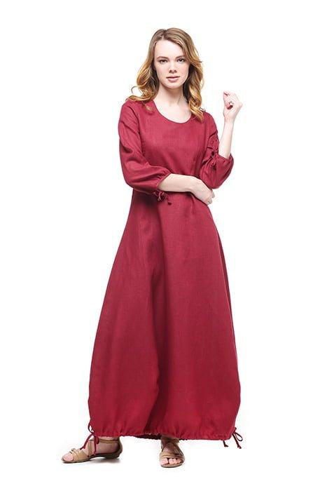 Фото 4 - Платье с кулиской по линии низа.