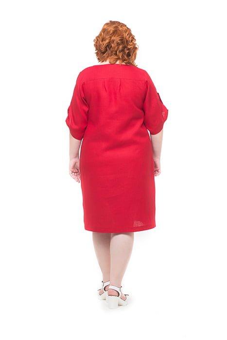 Платье льняное прямого силуэта