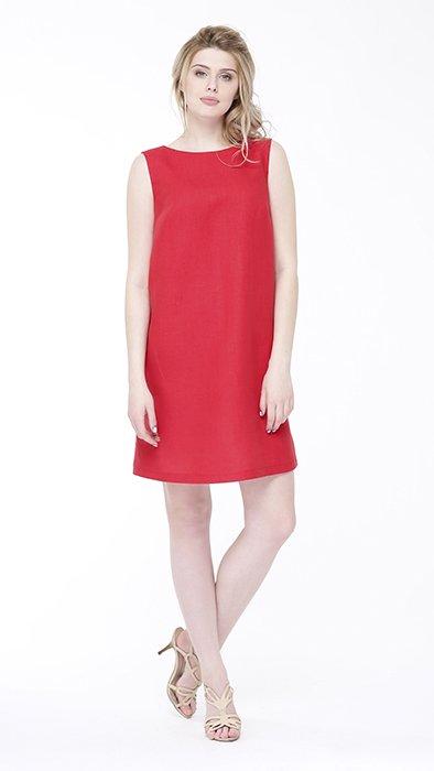 Фото 7 - Платье льняное базовое.
